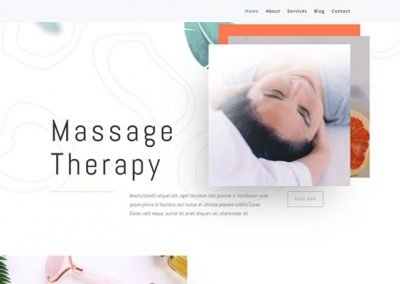 Website In a Box – Massage Therapist