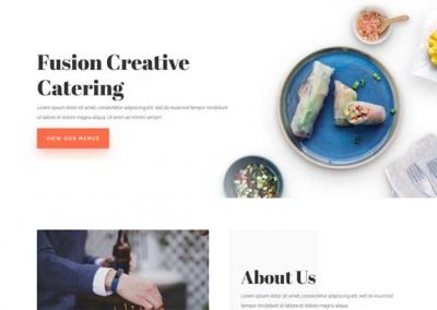 Website In a Box – Catering Single Page