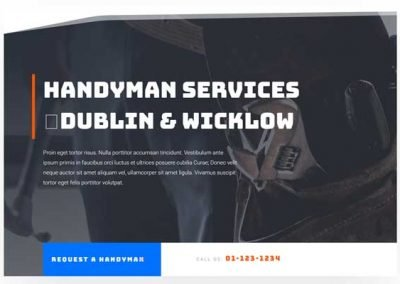 Website In a Box – Handyman Single Page