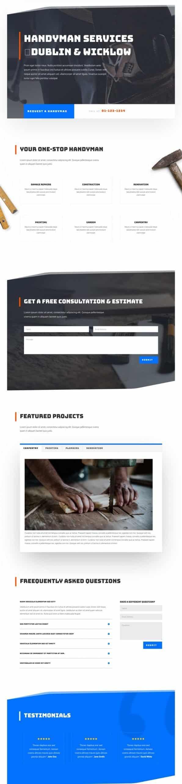 Screenshot of the Handyman Layout