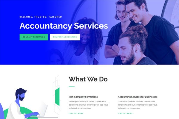 Website In a Box – Accountant Single Page