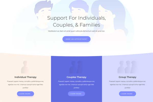 Website In a Box – Therapist Single Page